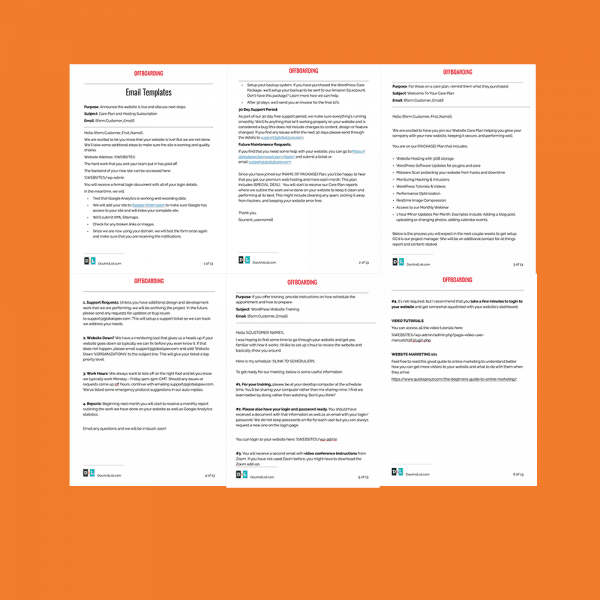 offboarding email templates